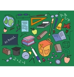 Doodle set of learning vector