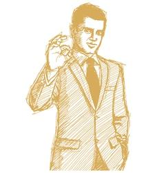 businessman OK vector image