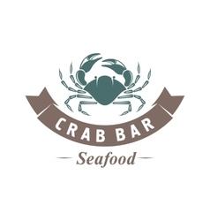 crab emblem vector image