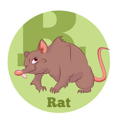 abc cartoon rat vector image vector image
