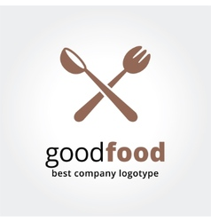 Abstract logotype for restaurant concept isolated vector image