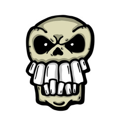 Angry painted skull vector