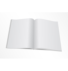 Blank opened magazine mock template vector