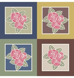 Bunch of roses vector