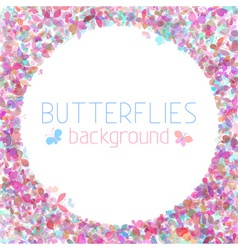 Colourful butterflies background vector