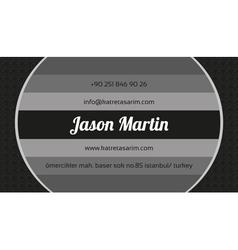 Creative grey business card vector