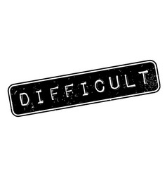 Difficult rubber stamp vector