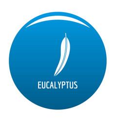 Eucalyptus leaf icon blue vector