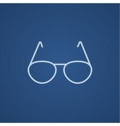 Eyeglasses line icon vector image vector image