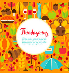 flat thanksgiving day greeting vector image