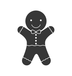 Happy ginger cookie vector