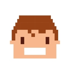 head human pixelated icon vector image
