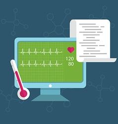 health monitoring vector image