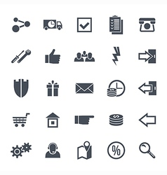 Icons navigation online store vector