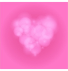Love heart background bokeh vector image