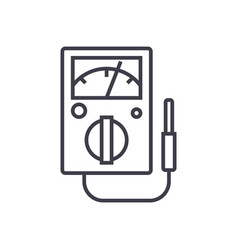 meter line icon sign on vector image vector image