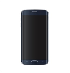 New version of modern smartphone with blank black vector image