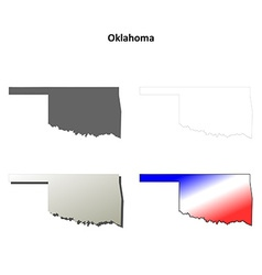 Oklahoma outline map set vector