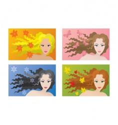 seasonal beauty vector image