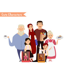 set of characters and people shopping vector image vector image