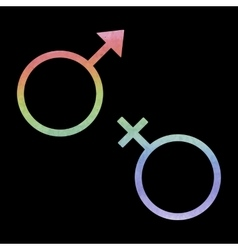 Sex symbol watercolor effect vector