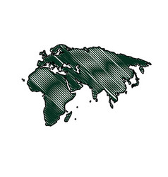 silhouette map world location landmark vector image