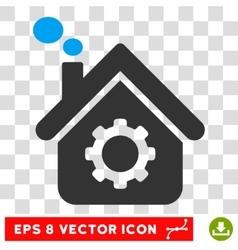 Smoking factory eps icon vector