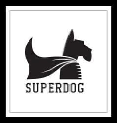 Super dog hero emblem vector