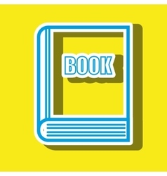 symbol of book isolated icon design vector image