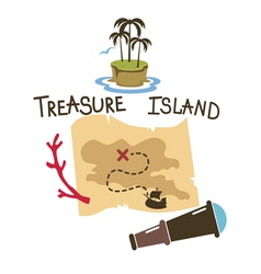 Treasure island composition vector