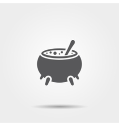 Witch cauldron icon vector