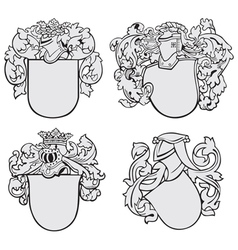 Set of aristocratic emblems no2 vector