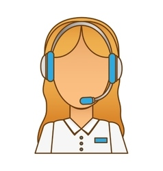 Call center telemarketing tech service worker vector
