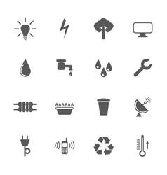 utilities icon set vector image
