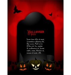 Halloween tombstone with sample text vector image