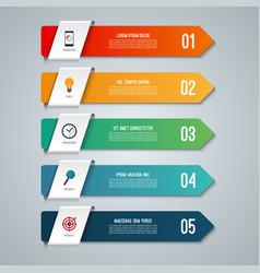 Arrow infographic concept with 5 options vector