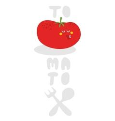 Tomato monster vector