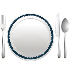 Dining set vector