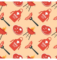 Bbq seamless pattern vector