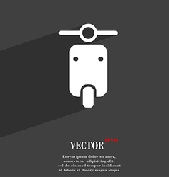 Motorcycle icon symbol flat modern web design with vector