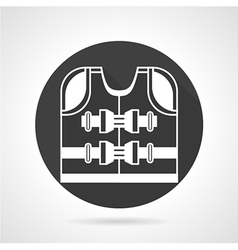 Life jacket black icon vector