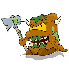 Garbage Monster vector image