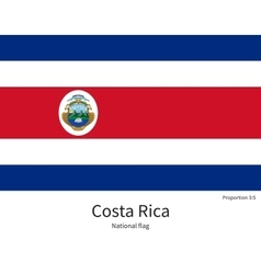 National flag of costa rica with correct vector