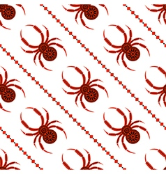 Seamless pattern with spider symmetrical bg vector