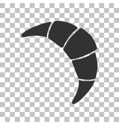 Croissant simple sign dark gray icon on vector