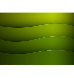 background green stripe wave vector image vector image