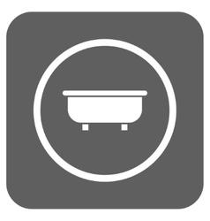Bathtub flat squared icon vector