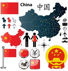 China map vector image vector image