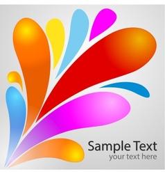 Color drop background vector image