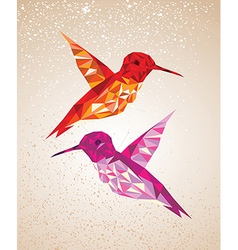 Colorful humming birds vector image vector image